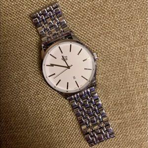 """Premier Designs Men's Silver """"Bossman"""" Watch"""
